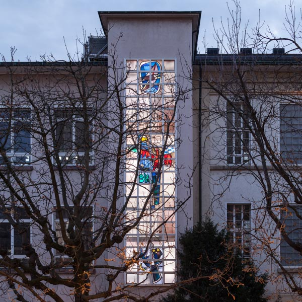 Glaskunst Hans Weidmann, Tageszeiten, 1962, Institut Anorganisch